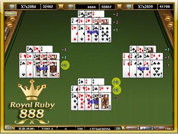 เกมไพ่ 13 ใบ หรือ ไพ่สามกอง royalruby888